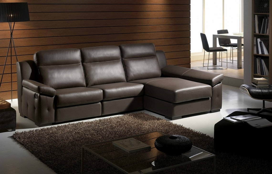 527 SOFA CHAISELONG COLOR CHOCOLATE
