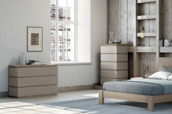 DESIGN CHESTS OF DRAWERS AND SINFONIER  IN NATURAL COLORS