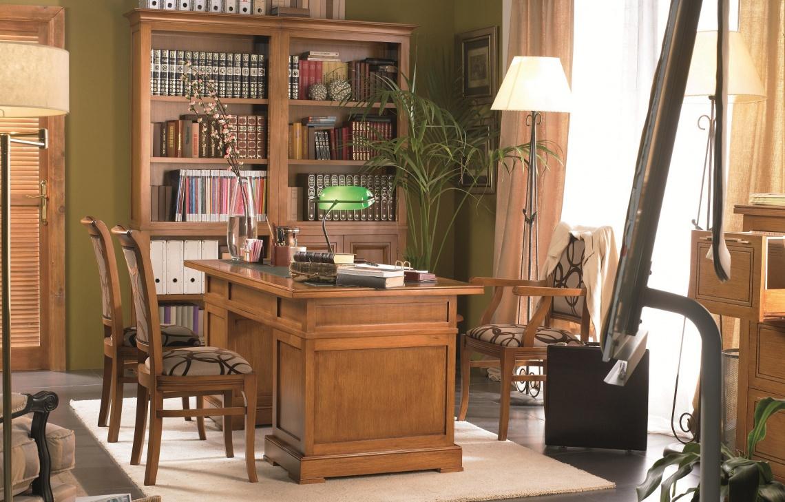 Ref 141 despacho clasico categor a estudio y biblioteca - Muebles despacho clasico ...