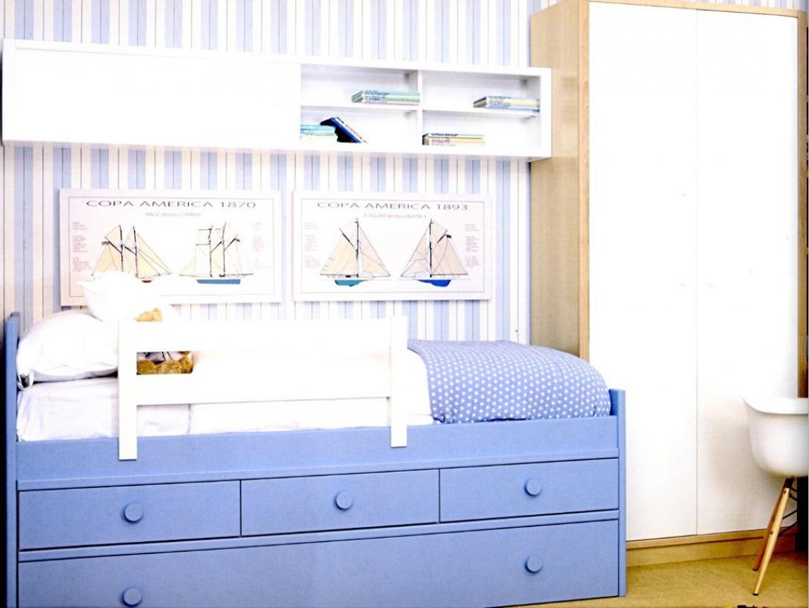 Ref 421 cama nido con cajones abajo categor a para los peque os estilo moderno y - Cama con cajones abajo ...