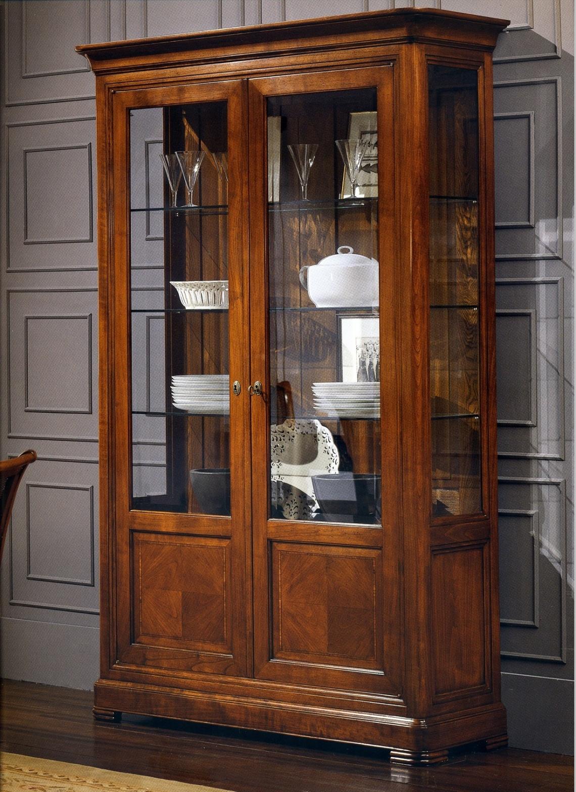 Ref 1013 vitrina en cerezo categor a a medida estilo - Vitrina a medida ...