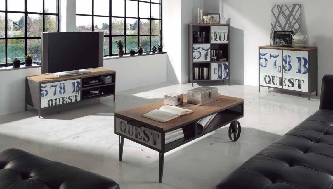 Ref 1031 mesa de centro de estilo industrial categor a - Muebles las quemadas ...