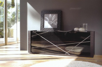 197 BLACK LACQUERED SIDEBOARD