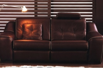 473 LEATHER SOFA