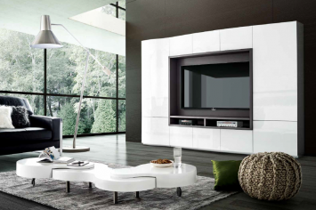 3408 MUEBLE TV BLANCO BRILLO