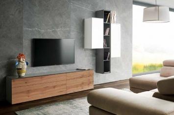 3411 MUEBLE TV EN MADERA CON NUDOS