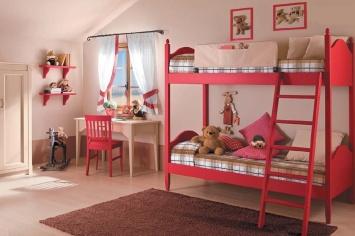 3401 DORMITORIO INFANTIL EN TONOS ALEGRES TONOS ROJOS