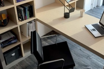 STUDY PLACE WITH A DESK INTEGRATED