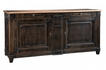 RUSTIC SIDEBOARD WITH THE COVER IN NATURAL WOOD