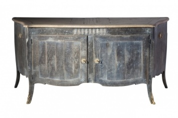 RUSTIC STYLE SIDEBOARD WITH METAL DECORATIONS